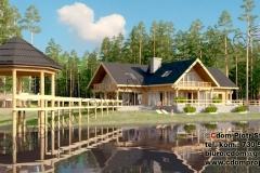 Dom bala nad rzeką