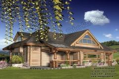 Dom z bali  w Kopalinach