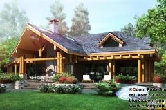 Nowoczesny dom z bali klejonych pod Rzeszowem