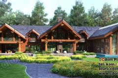 Duży dom z bali ciosanych