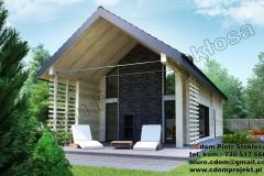 Dom z bali  klejonych mały 100 m2