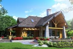 Dom z bali średni 160m2