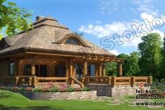 Mały dom z bali na Kaszubach