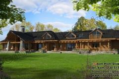 Dom z bali nad jeziorem Chorzykowskim