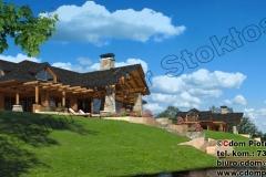 Dom z bali nad jeziorem
