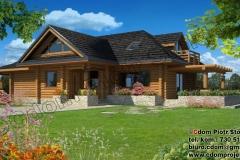 Dom z bali w Bieszczadach