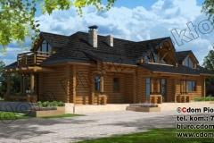 Dom z bali w Lasku pod Warszawą