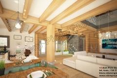 Dom z bali w Zawoji