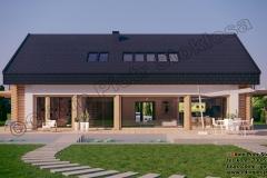 Dom z bali nowoczesny  z dachem dwuspadowym