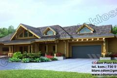 Dom z bali z garażem wbudowanym