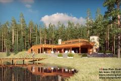 Nowoczesny dom z bali nad jeziorem