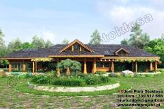 Nowoczesny dom z bali w Tarnowskich Gorach