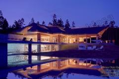 Nowoczesny dom z bali z basenem w Kadynach