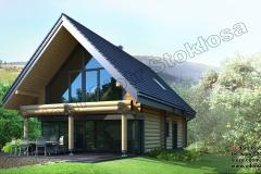 Nowoczesny-dom-z-bali-z-dużym-przeszkleniem-narożnym-w-Zawoji-4