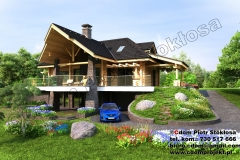 nowoczesny dom z bali z podpiwniczeniem 250 m2