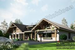 Dom parterowy murowano/drewniany z czesciowym podpiwniczeniem 350m2